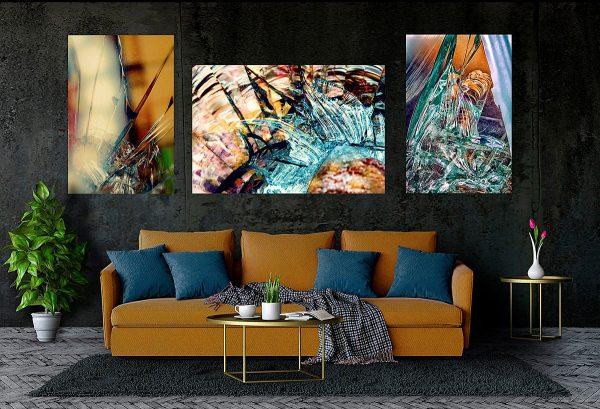 abstract fine art photography II blur VII harmony III confusion - living room dark