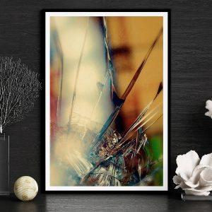 abstract fine art photography II blur - framed wallart black