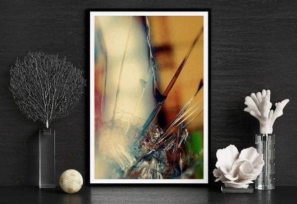 abstract fine art photography II blur - framed wallart black