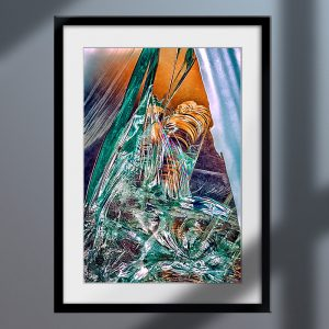 abstract fine art photography III confusion - framed wallart dark