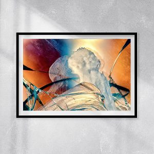 abstract fine art photography IV conflict - framed wallart