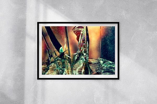abstract fine art photography V tension - framed wallart