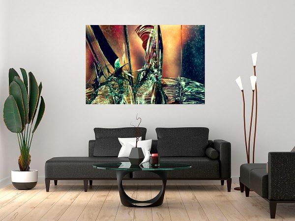 abstract fine art photography V tension - framed wallart living room dark