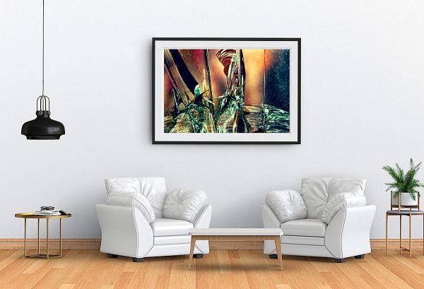 abstract fine art photography V tension - framed wallart living room white