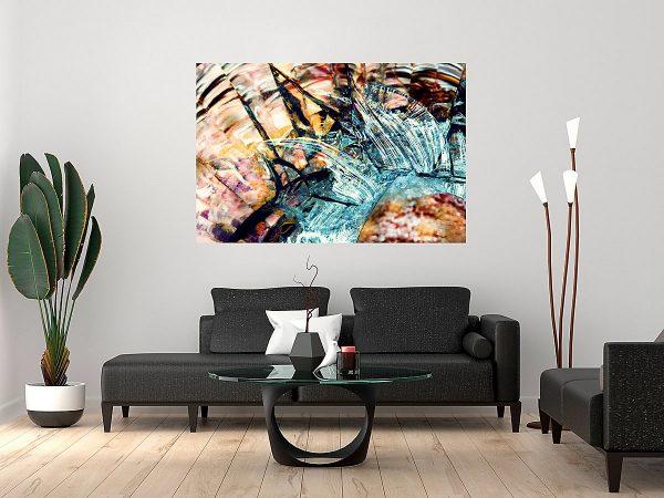 abstract fine art photography VII harmony - framed wallart living room dark