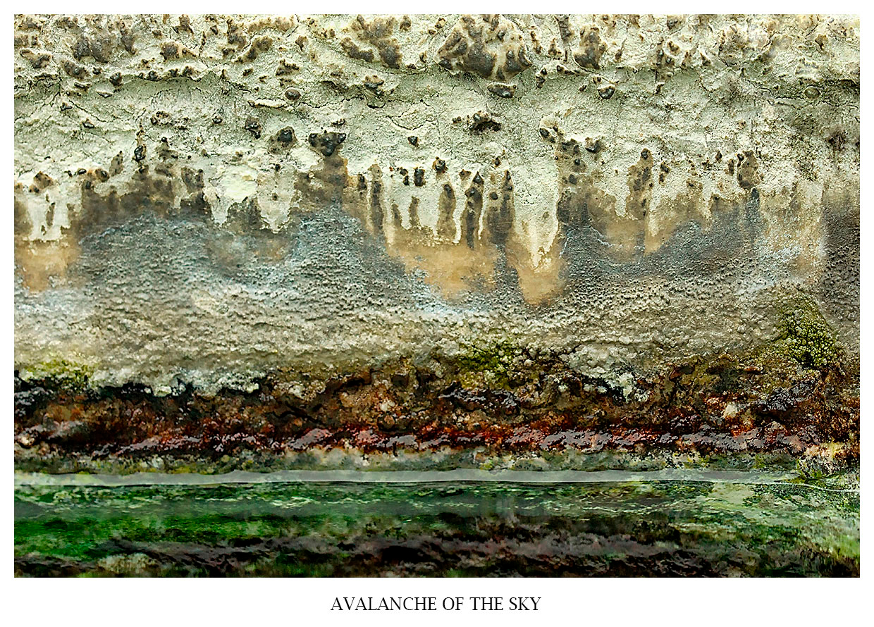 abstract fine art photography avalanche of the sky - polarity of the worlds