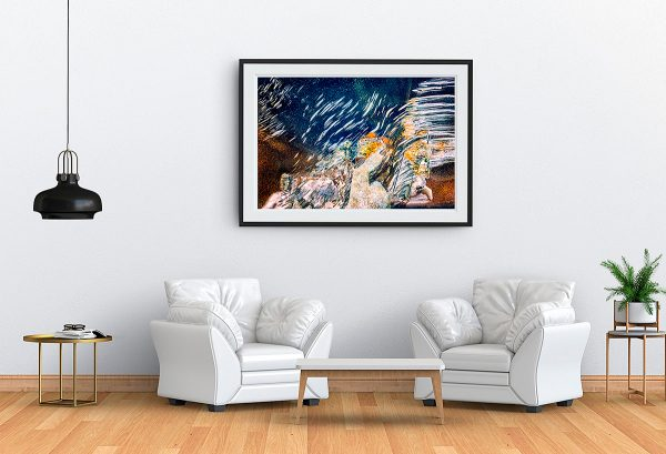 abstract fine art photography the promised - framed wallart living room white
