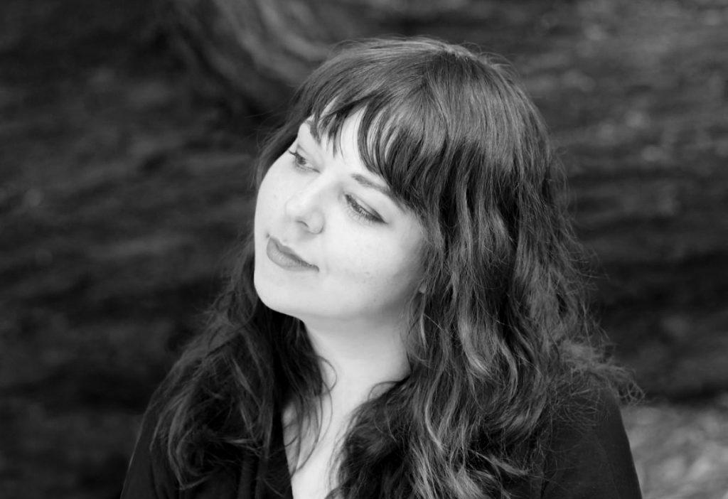 black and white portrait of photographer and make-up artist Anett Bulano