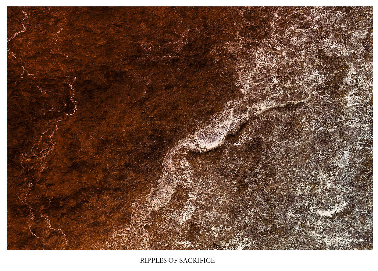 abstract photography RIPPLES OF SACRIFICE